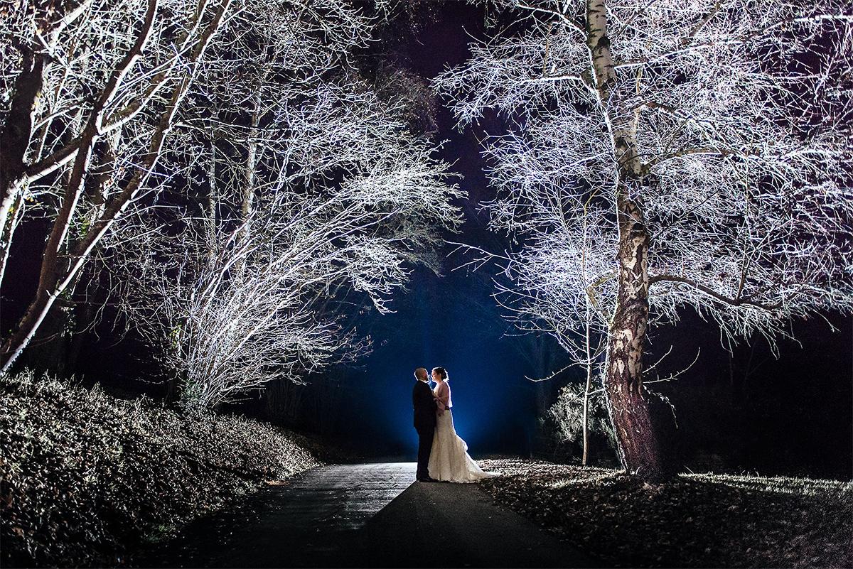 Hochzeitsfoto im Winter in Trier