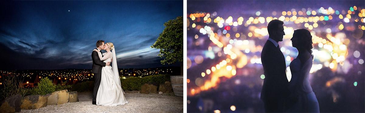 Auch bei Nacht sind schöne Hochzeitsfotos in Trier möglich!
