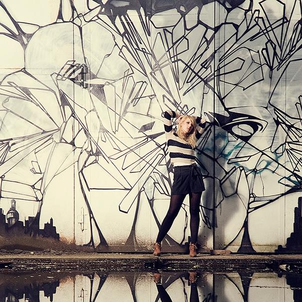 Graffitishoot mit Melanie