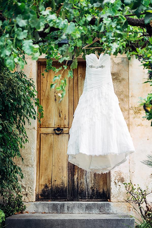 Brautkleid Detailfoto auf Mallorca
