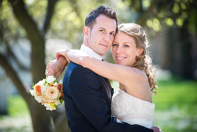 Hochzeitsfoto im Palastgarten in Trier