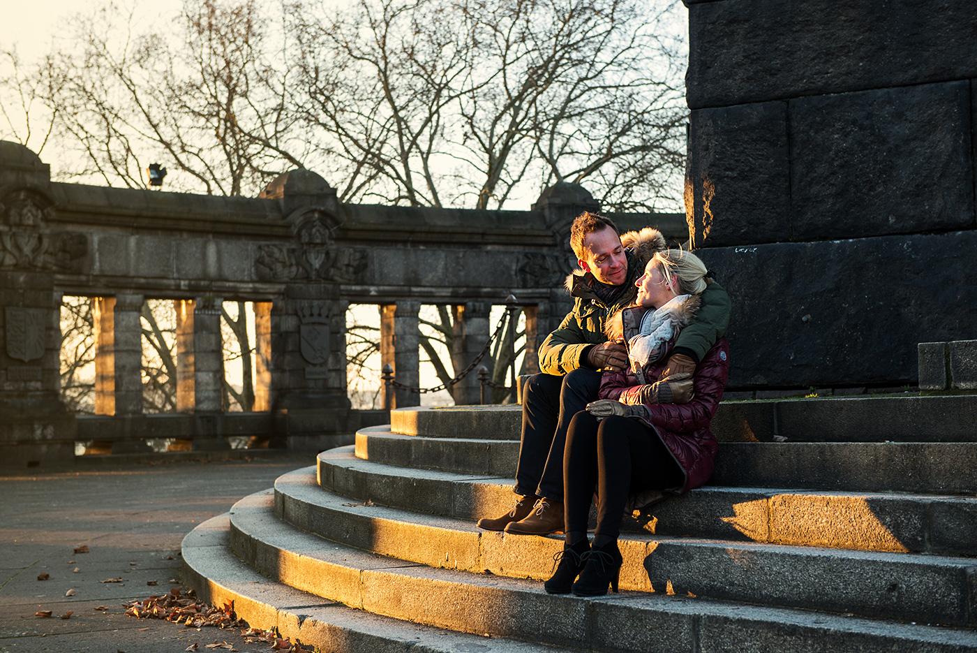 Hochzeitsfotografie Location Check mit Patrick und Katharina  am Deutschen Eck (Koblenz)