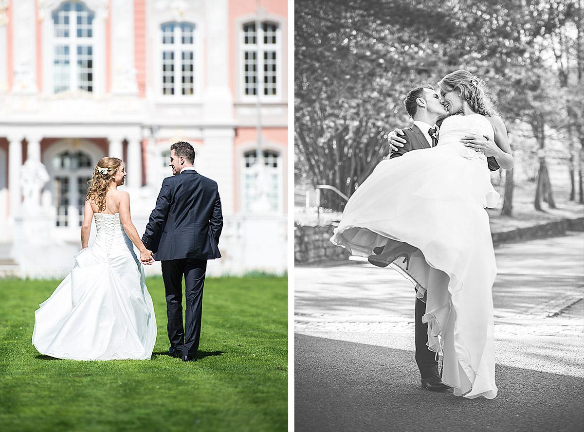 Stéphanie & Fabricio - Shooting im Palastgarten