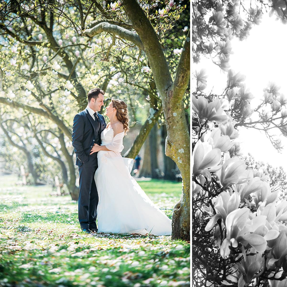 Brautpaar im Palastgarten