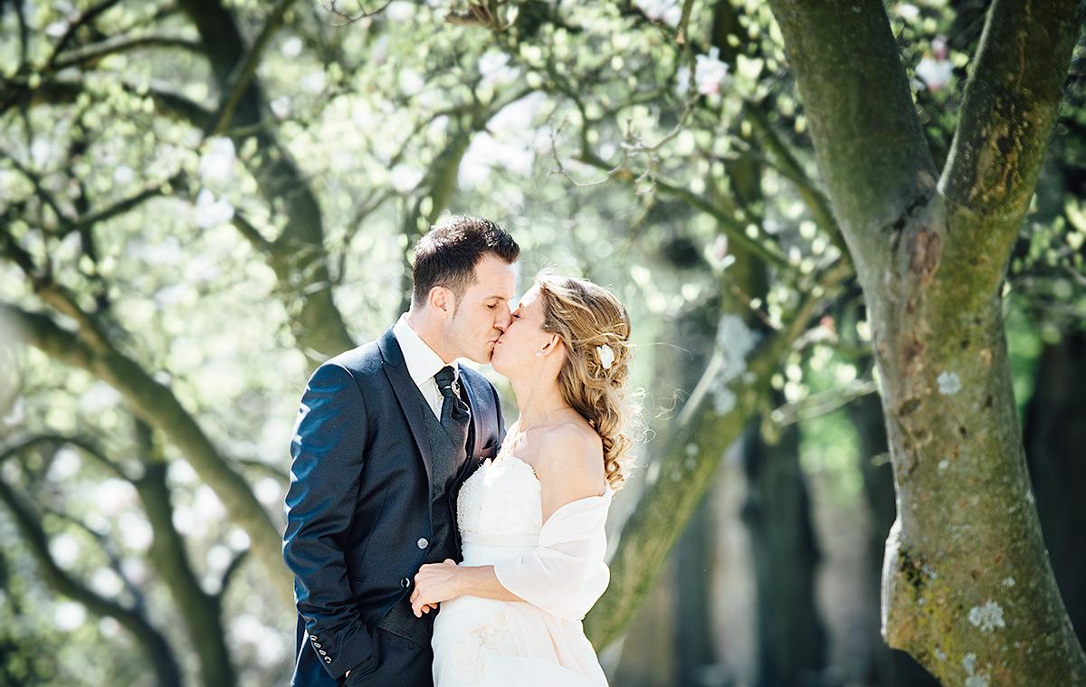 Stéphanie & Fabricio - Hochzeitsfotos im Palastgarten Trier