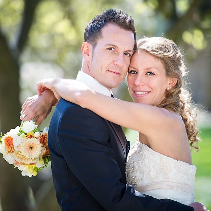 Stéphanie & Fabricio - Hochzeitsfotos im Palastgarten in Trier