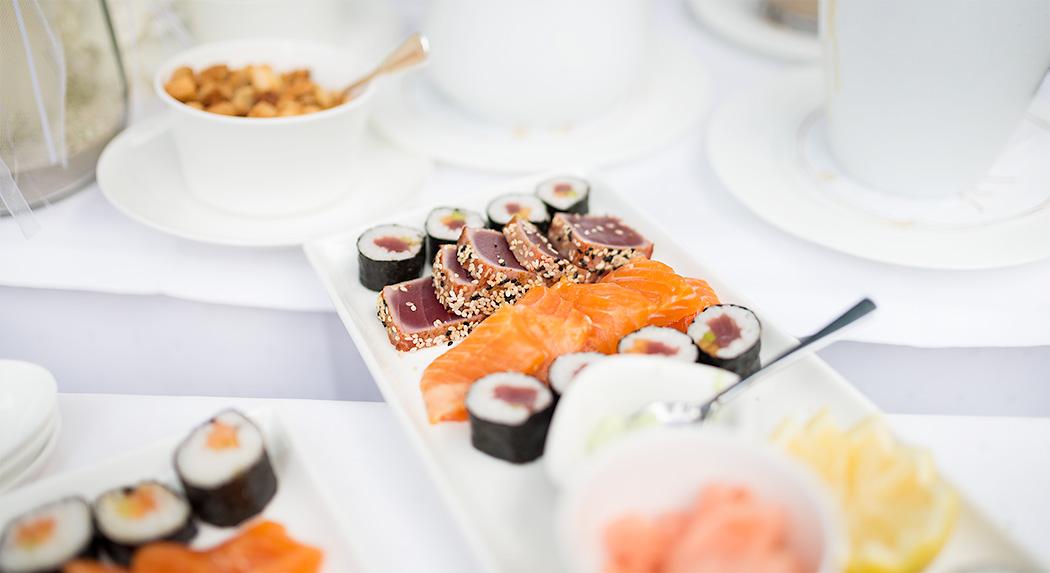 Hochzeits-Buffet in Trier (Sushi)