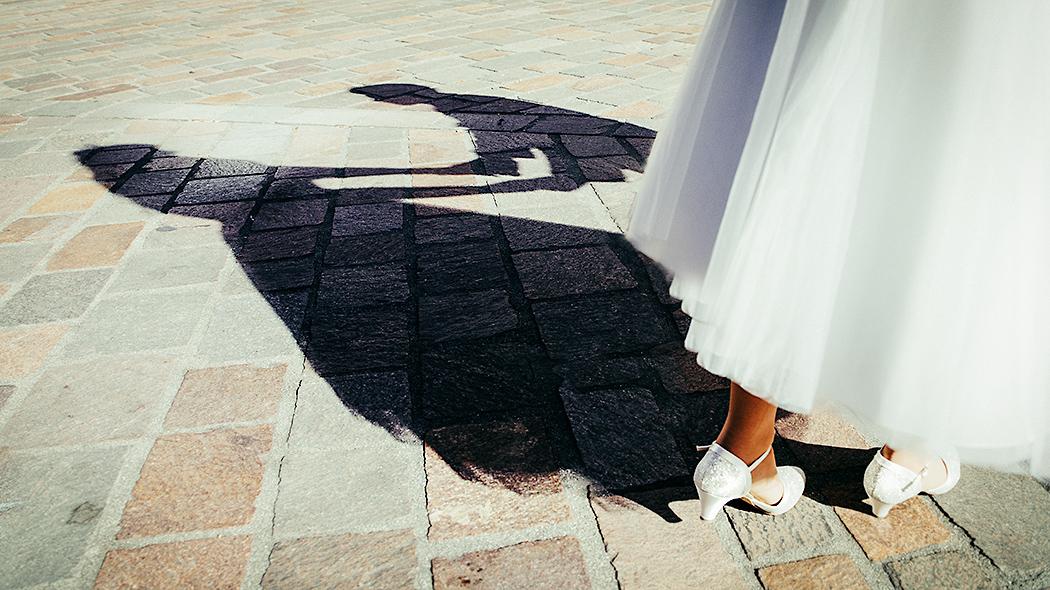 Schatten vom Brautpaar (Hochzeitsfotograf Trier)